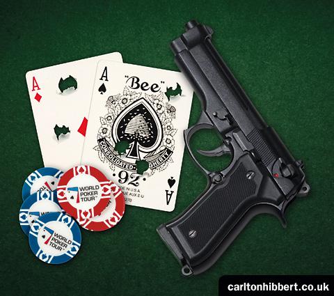 poker gun illustration